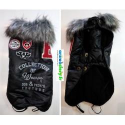 Manteau skin avec col fausse fourrure amovible Wouapy