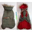 Manteau avec capuche City Kaki Wouapy