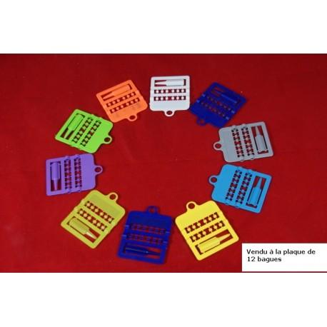 12 bagues plastiques ouvertes 3 mm