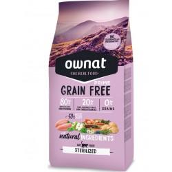 Ownat Prime grain free Sterilized 8 Kg - croquettes sans céréale pour chat stérilisé