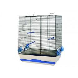 Cage Ambra 56.5x36.5x74 cm noir/sable avec pied