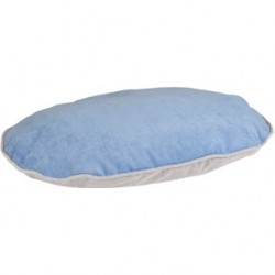 Coussin Ovale bleu