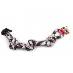Corde coton 3 noeuds brun 600g 60cm