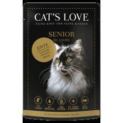 Aliment en patée pour chat senior au canard Cat's Love 85g