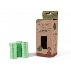 Sachets hygièniques vert dégradables par 10 rouleaux