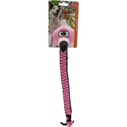 Jouet chien Jungle Rope flamant rose 40 cm