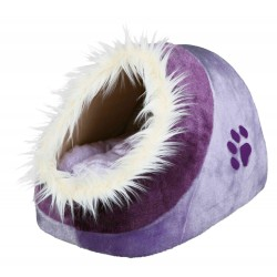 Abri douillet Minou violet 35x26x41 cm