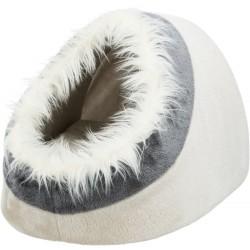 Abri douillet Minou beige/gris 41x30x50 cm