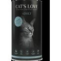 Croquettes pour chat au saumon Cat's love 1 Kg
