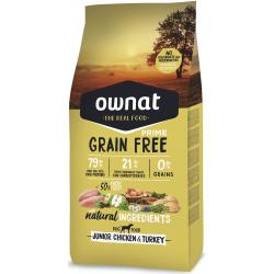 Ownat prime grain free Junior volaille 14Kg
