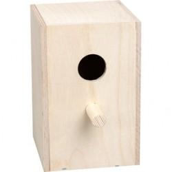 Nid en bois exotique 12*9.5*9 cm IMOR