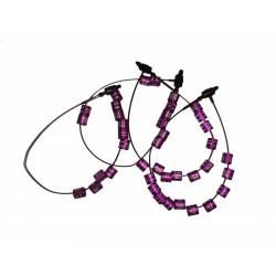 Bague métal violette 2.5 mm 2021