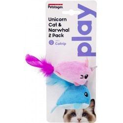 Petstages Unicorn cat & Narwhal