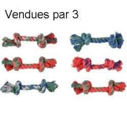 Corde coton 2 noeuds 17 cm