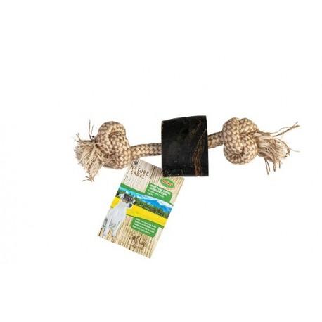 Bubimex Corne de Buffle avec corde 25cm