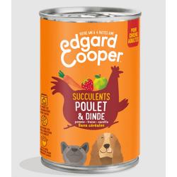Edgar&Cooper Boîte poulet & dinde pour chien 400g
