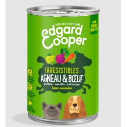 Edgar&Cooper Boîte agneau & boeuf pour chien 400g