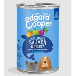 Edgar&Cooper Boîte saumon & truite pour chien 400g