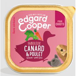 Edgar&Cooper Barquette canard & poulet pour chiot 300g