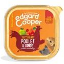 Edgar&Cooper Barquette poulet & dinde pour chien 300g