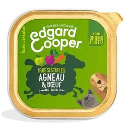 Edgar&Cooper Barquette agneau & boeuf pour chien 300g