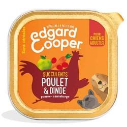 Edgar&Cooper Barquette poulet & dinde pour chien 150g