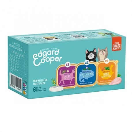 Edgar&Cooper Multipack Barquettes pour Chat 6 x 85g