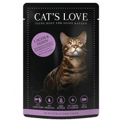 Cat's Love Patée au saumon poulet pour chat - sachet de 85g