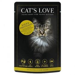 Cat's Love Patée au veau dinde pour chat - sachet de 85g