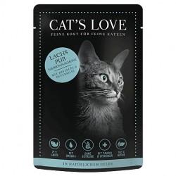 Cat's Love Patée au saumon pour chat - sachet de 85g