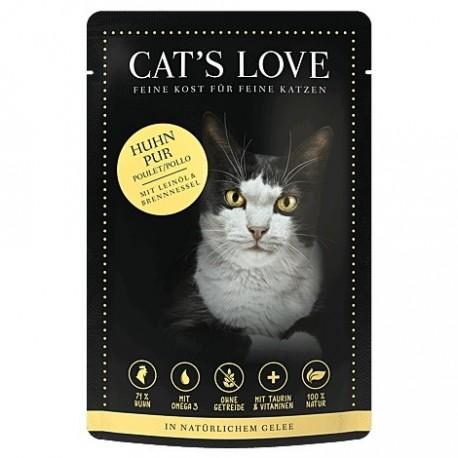 Cat's Love Patée au poulet pour chat - sachet de 85g