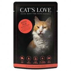Cat's Love Patée au boeuf pour chat - sachet de 85g