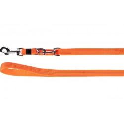 Flamingo Laisse d'entrainement chien Len orange 200cm 20mm