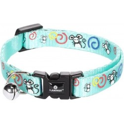 Collier chat souris turquoise 10 mm 30 cm